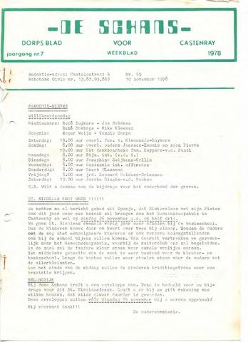 Castenrays dorpsblad De Schans 1978-11-10