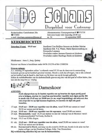 Castenrays dorpsblad De Schans 2009-09-16