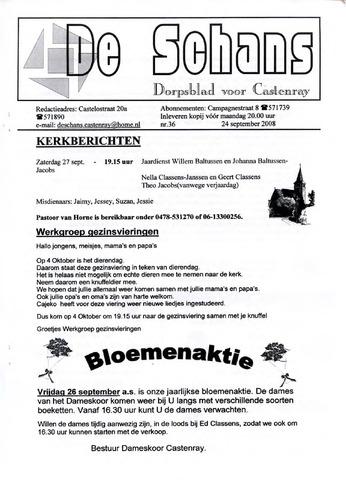 Castenrays dorpsblad De Schans 2008-09-24