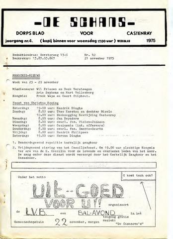 Castenrays dorpsblad De Schans 1975-11-21