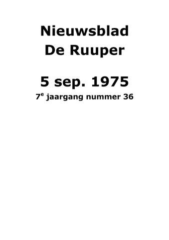 Dorpsblad Leunen-Veulen-Heide 1975-09-05