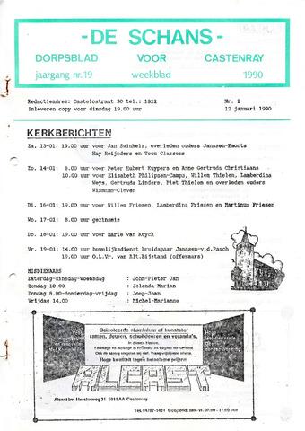 Castenrays dorpsblad De Schans 1990-01-12