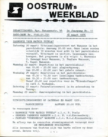 Oostrum's Weekblad 1976-03-18