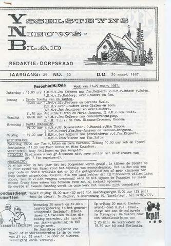 Ysselsteyns Nieuwsblad 1987-03-20