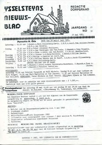 Ysselsteyns Nieuwsblad 1983-05-27