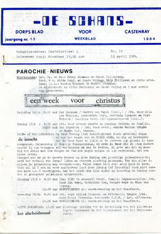 Castenrays dorpsblad De Schans 1984-04-13