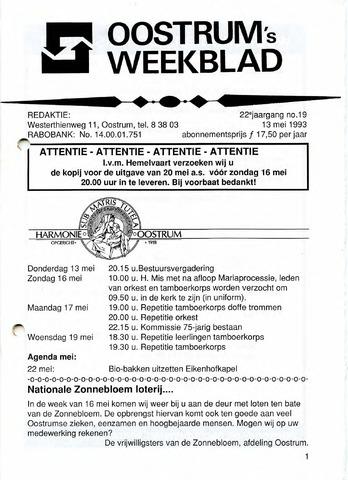 Oostrum's Weekblad 1993-05-13