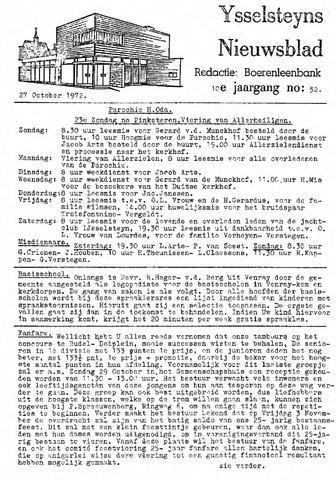 Ysselsteyns Nieuwsblad 1972-10-27