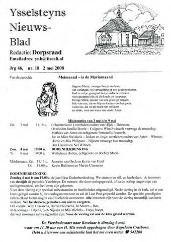 Ysselsteyns Nieuwsblad 2008-05-02