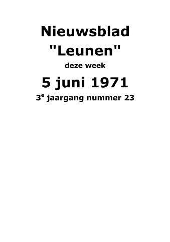 Dorpsblad Leunen-Veulen-Heide 1971-06-05