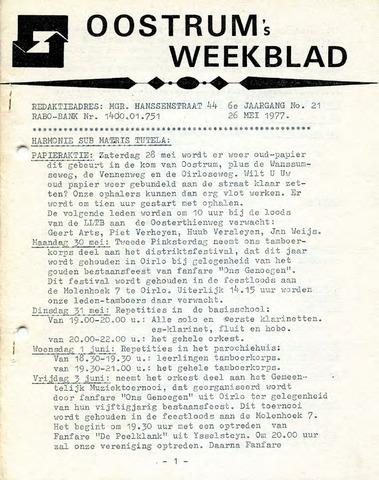 Oostrum's Weekblad 1977-05-26