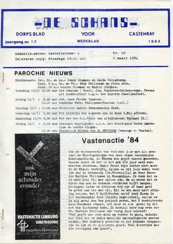 Castenrays dorpsblad De Schans 1984-03-09