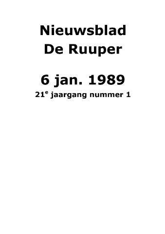 Dorpsblad Leunen-Veulen-Heide 1989
