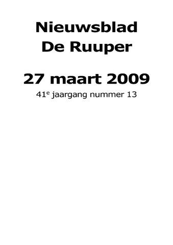 Dorpsblad Leunen-Veulen-Heide 2009-03-27