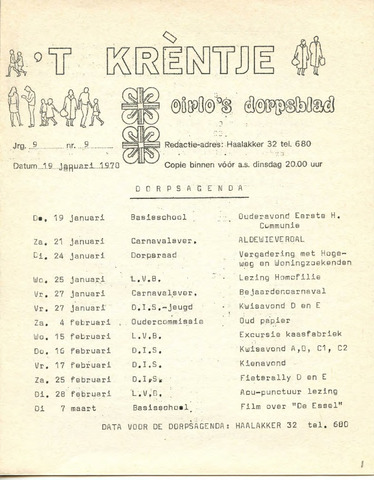 Oirlo's dorpsblad 't Krèntje 1978-01-19