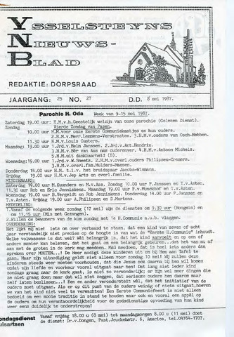 Ysselsteyns Nieuwsblad 1987-05-08