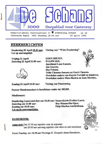 Castenrays dorpsblad De Schans 2000-04-20