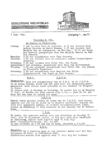 Ysselsteyns Nieuwsblad 1966-07-07