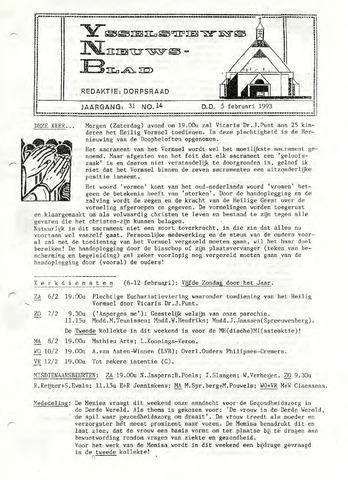 Ysselsteyns Nieuwsblad 1993-02-05