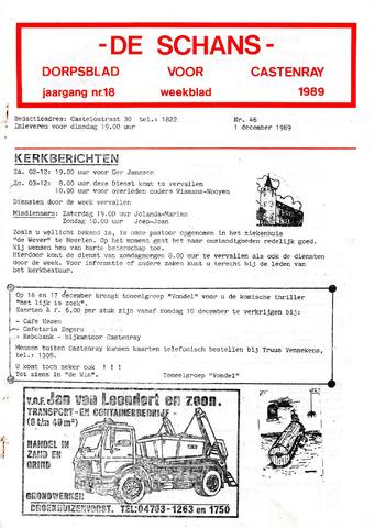 Castenrays dorpsblad De Schans 1989-12-01