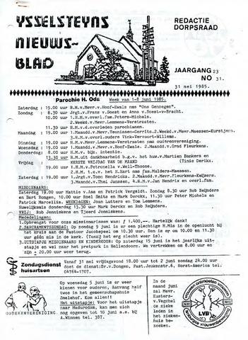 Ysselsteyns Nieuwsblad 1985-05-31