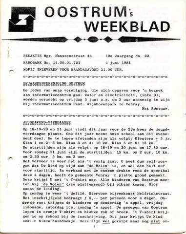 Oostrum's Weekblad 1981-06-04