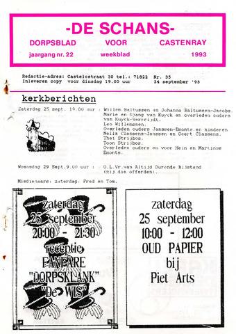 Castenrays dorpsblad De Schans 1993-09-24