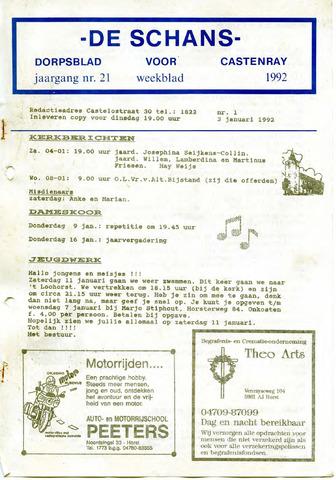 Castenrays dorpsblad De Schans 1992