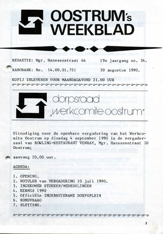 Oostrum's Weekblad 1990-08-30
