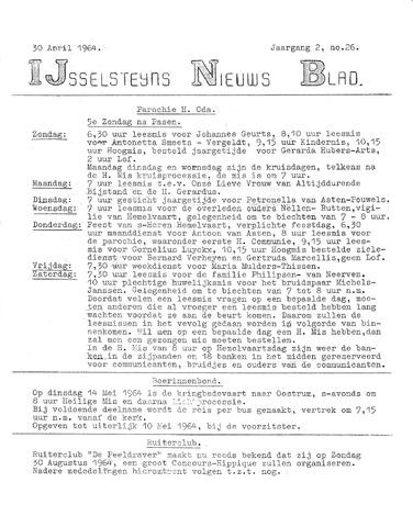 Ysselsteyns Nieuwsblad 1964-04-30