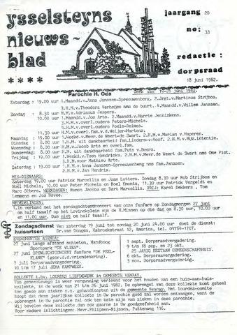 Ysselsteyns Nieuwsblad 1982-06-18