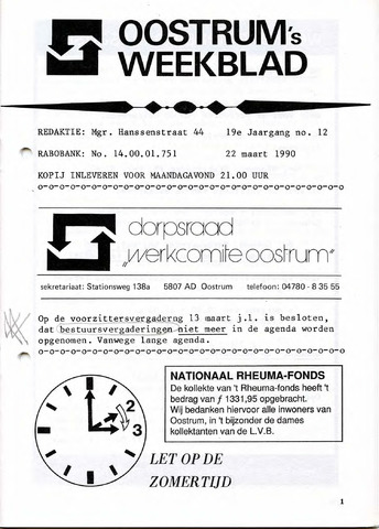 Oostrum's Weekblad 1990-03-22