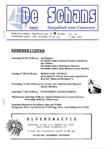 Castenrays dorpsblad De Schans 1997-05-07