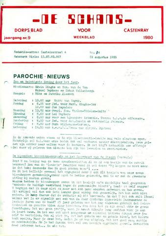 Castenrays dorpsblad De Schans 1980-08-22