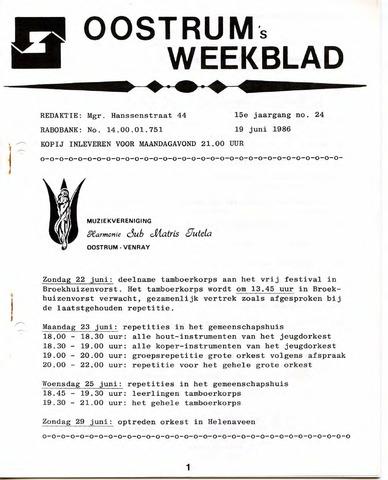 Oostrum's Weekblad 1986-06-19