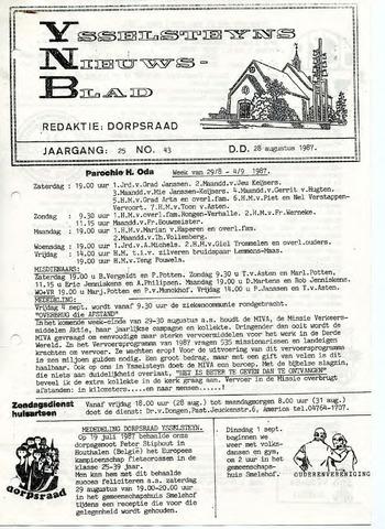 Ysselsteyns Nieuwsblad 1987-08-28
