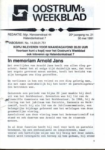 Oostrum's Weekblad 1991-05-30