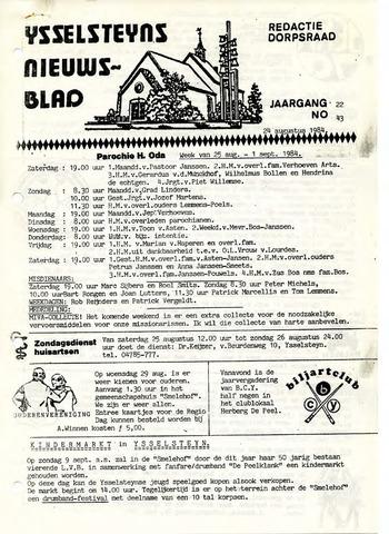 Ysselsteyns Nieuwsblad 1984-08-24