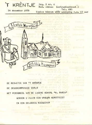 Oirlo's dorpsblad 't Krèntje 1970-12-24