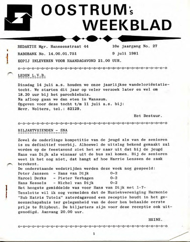 Oostrum's Weekblad 1981-07-09