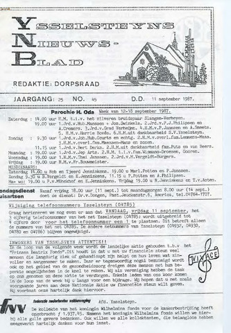 Ysselsteyns Nieuwsblad 1987-09-11