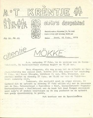 Oirlo's dorpsblad 't Krèntje 1979-02-15
