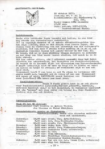 Castenrays dorpsblad De Schans 1971-10-22
