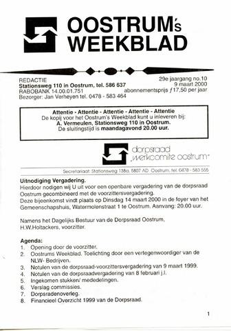 Oostrum's Weekblad 2000-03-09