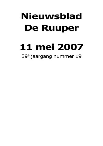 Dorpsblad Leunen-Veulen-Heide 2007-05-11