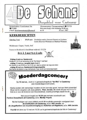 Castenrays dorpsblad De Schans 2007-05-02