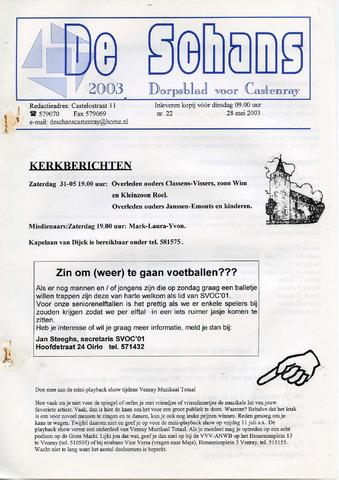 Castenrays dorpsblad De Schans 2003-05-28