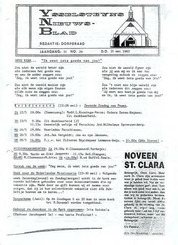 Ysselsteyns Nieuwsblad 1993-05-21