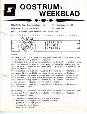 Oostrum's Weekblad 1987-06-25