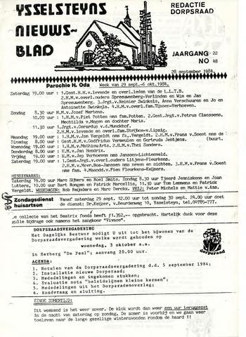 Ysselsteyns Nieuwsblad 1984-09-28